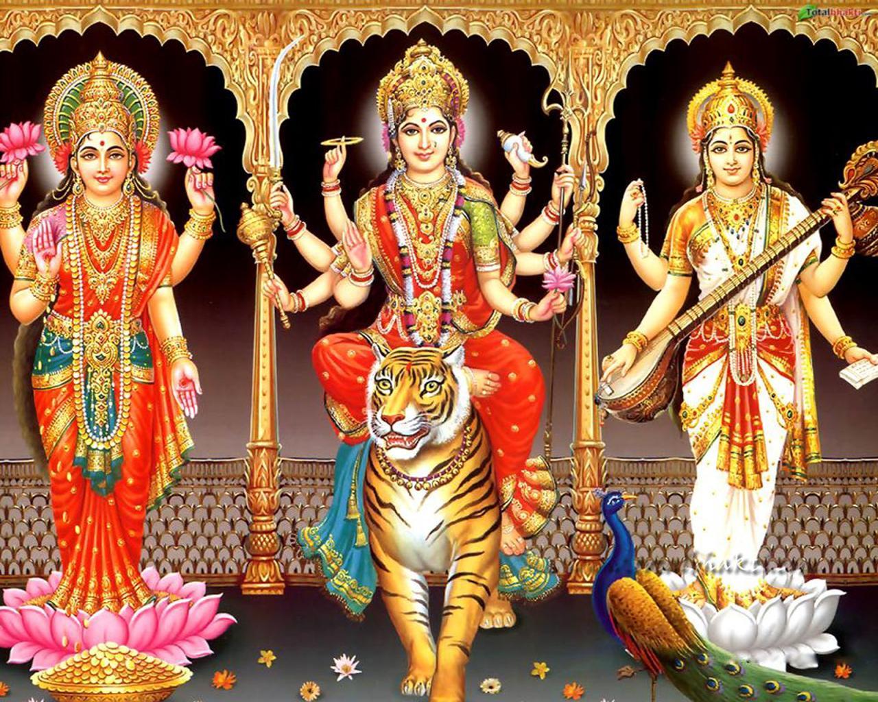 Vedic way to victory new year message by swami paramarthananda ji durga lakshmi saraswathi fandeluxe Image collections