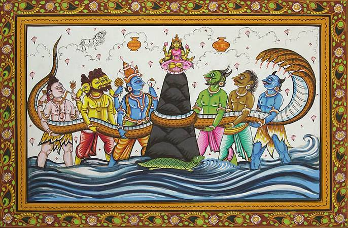 samudra manthan coloring pages - photo#36